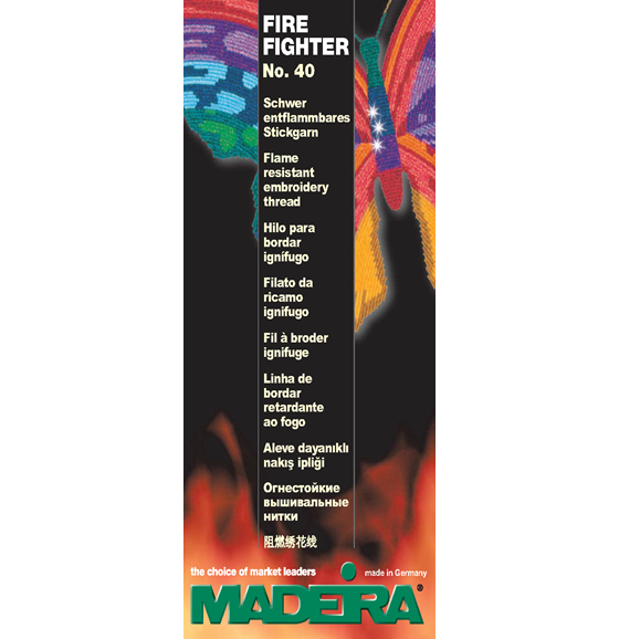 #100-96 MADEIRA FIRE FIGHTER #40 WEIGHT COLOR CARD
