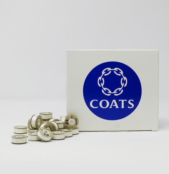 131-15 Coats V15 Trusew Style L Paper Sided White Polyester Embroidery Bobbins