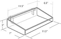 155-E PRODUCT DISPLAY TRAY