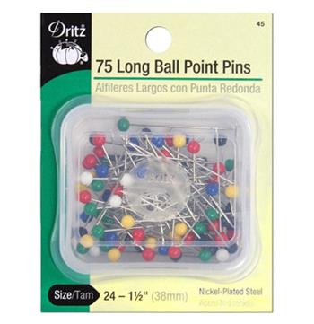 31 LONG COLOR BALL PINS