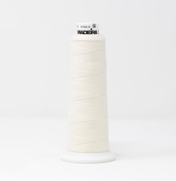 #813-3601 1100 yard cone of #12 weight White Burmilana wool embroidery thread.