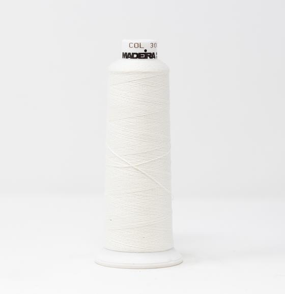 #816-3003 1100 yard cone of #12 weight Off White BurmilanaCo cotton blend embroidery thread.