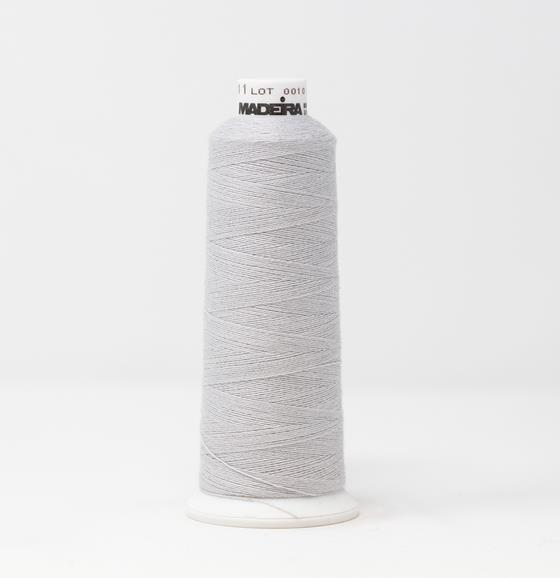 #816-3011 1100 yard cone of #12 weight Gray BurmilanaCo cotton blend embroidery thread