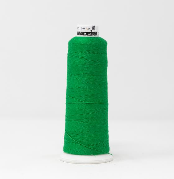#816-3051 1100 yard cone of #12 weight Green BurmilanaCo cotton blend embroidery thread