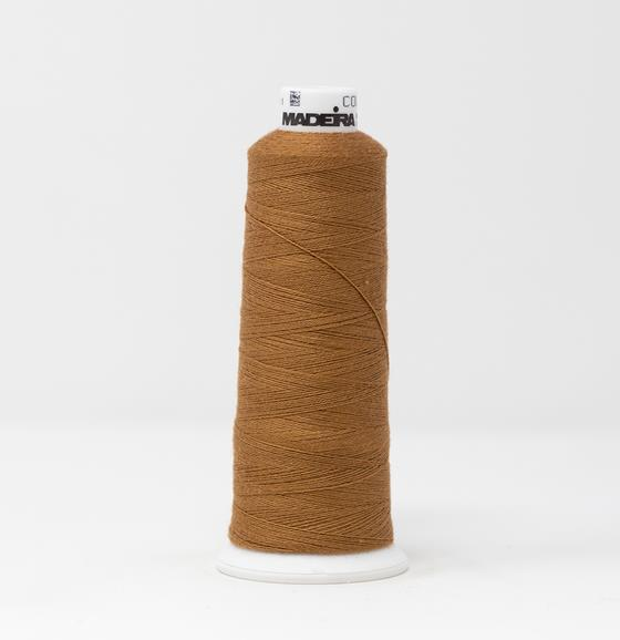 #816-3057 1100 yard cone of #12 weight Light Brown BurmilanaCo cotton blend embroidery thread.