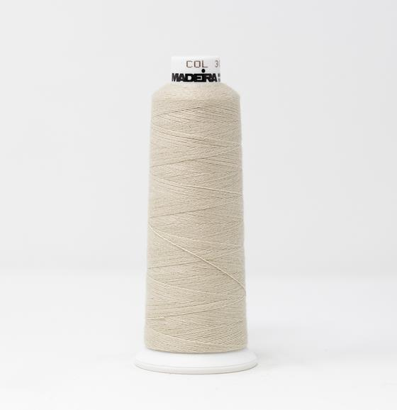 #816-3060 1100 yard cone of #12 weight Beige BurmilanaCo cotton blend embroidery thread.