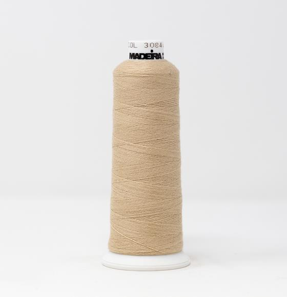 #816-3084 1100 yard cone of #12 weight Beige BurmilanaCo cotton blend embroidery thread.