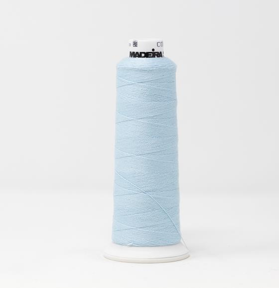 #816-3092 1100 yard cone of #12 weight Blue BurmilanaCo cotton blend embroidery thread.