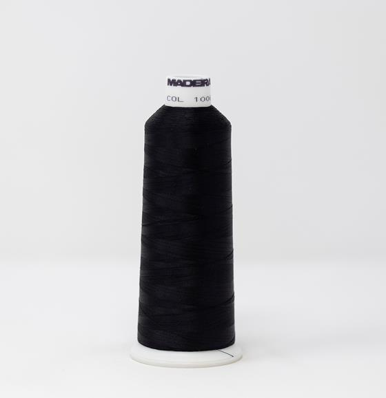 #910-1006 5500 yard cone of #40 weight rayon embroidery thread in Diamond Black.