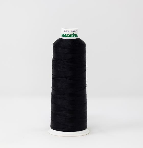 #910-1008 5500 yard cone of #40 weight rayon embroidery thread in Ruby Black