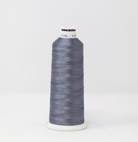 #910-1041 5500 yard cone of #40 weight rayon embroidery thread in Polished Pewter gray