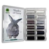 #919-12-SGGY Madeira Polyneon #40 Machine Embroidery Thread 12 Color Gray Kit