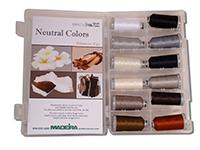#919-12-NEUTRAL Madeira Polyneon #40 Machine Embroidery Thread 12 Color Kit.