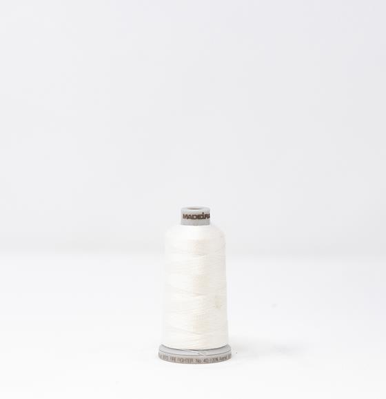 #922-N1803 1,000 yard spool of #40 weight Fire Fighter embroidery thread in White.
