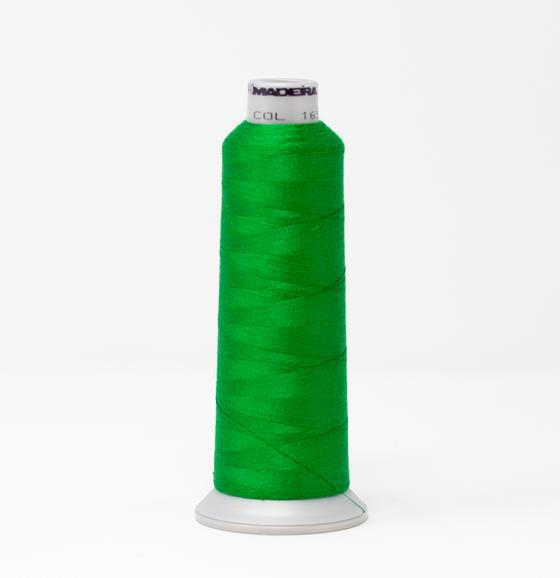 #929-N1651 2,735 yard cone of #40 weight Fire Fighter embroidery thread in Green.