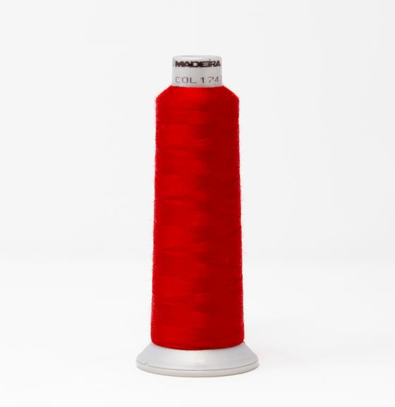 #929-N1747 2,735 yard cone of #40 weight Fire Fighter embroidery thread in Red.