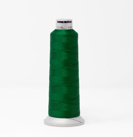 #929-N1851 2,735 yard cone of #40 weight Fire Fighter embroidery thread in Dark Green.