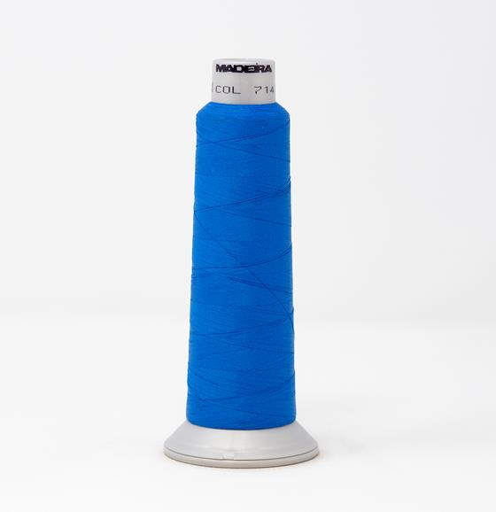 #940-7142 2,700 yard cone Frosted Matt #40 machine embroidery thread in blue.