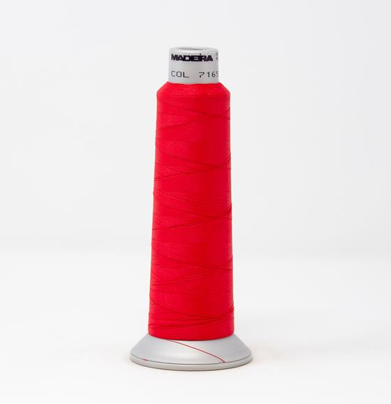 #940-7165 2,700 yard cone Frosted Matt #40 machine embroidery thread in Red Purple.