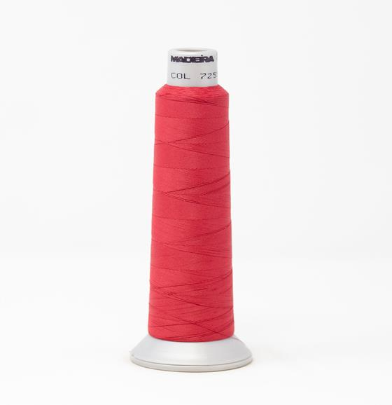#940-7255 2,700 yard cone Frosted Matt #40 embroidery thread in red.