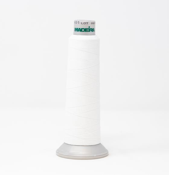 #940-7801 2,700 yard cone Frosted Matt #40 embroidery thread in white.