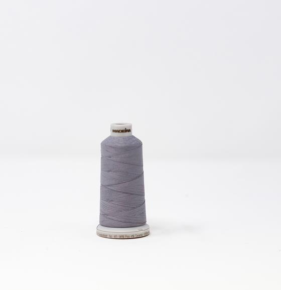 #942-7640 1,100 yard cone Frosted Matt #40 machine embroidery thread in gray.