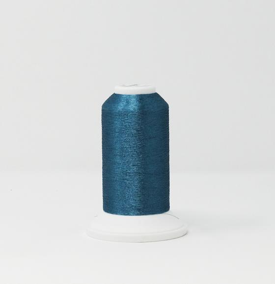 978-4232 2,700 yard cone of Madeira Polyester CR Metallic embroidery thread in Moon Stone Blue.