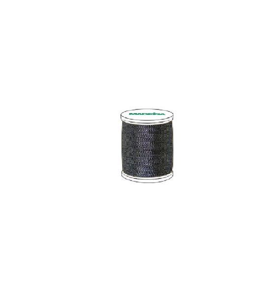 #981-442 20 Weight 612 yard spool of Antique Silver color Madeira FS Metallic machine embroidery thread.