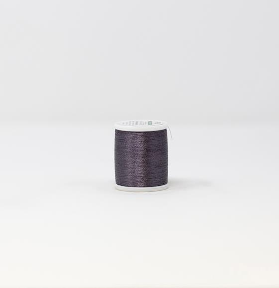 #985-4060 40 Weight 1,100 yard spool of Black Pearl color Madeira FS Metallic machine embroidery thread.