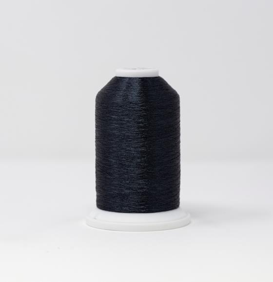 #986-4070 40 Weight 5,500 yard cone of Carbon color Madeira FS Metallic machine embroidery thread.