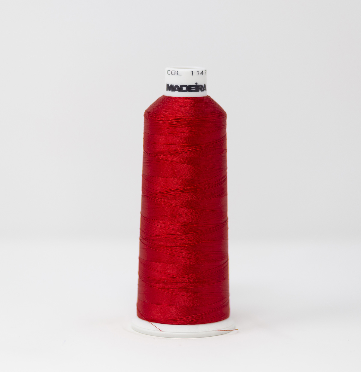 1147 Madeira Rayon Embroidery Thread 5500yd Cone RED Color